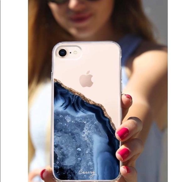 separation shoes e4988 fbdbb Dark Blue Agate Phone Case - iPhone 7/8 Boutique
